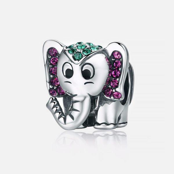 Ezüst elefánt charm