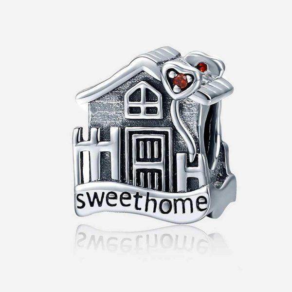 Ezüst sweet home charm