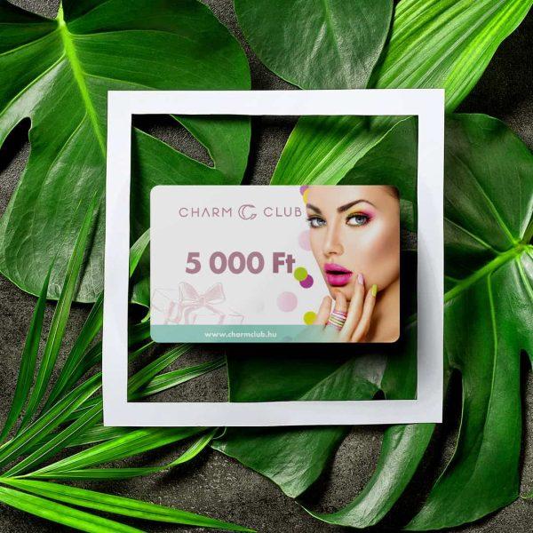 CharmClub ajándékkártya 5.000 Ft értékű -Tropical leaf